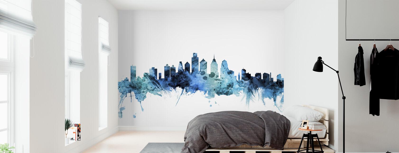 Philadelphia Pennsylvania Skyline - Wallpaper - Bedroom