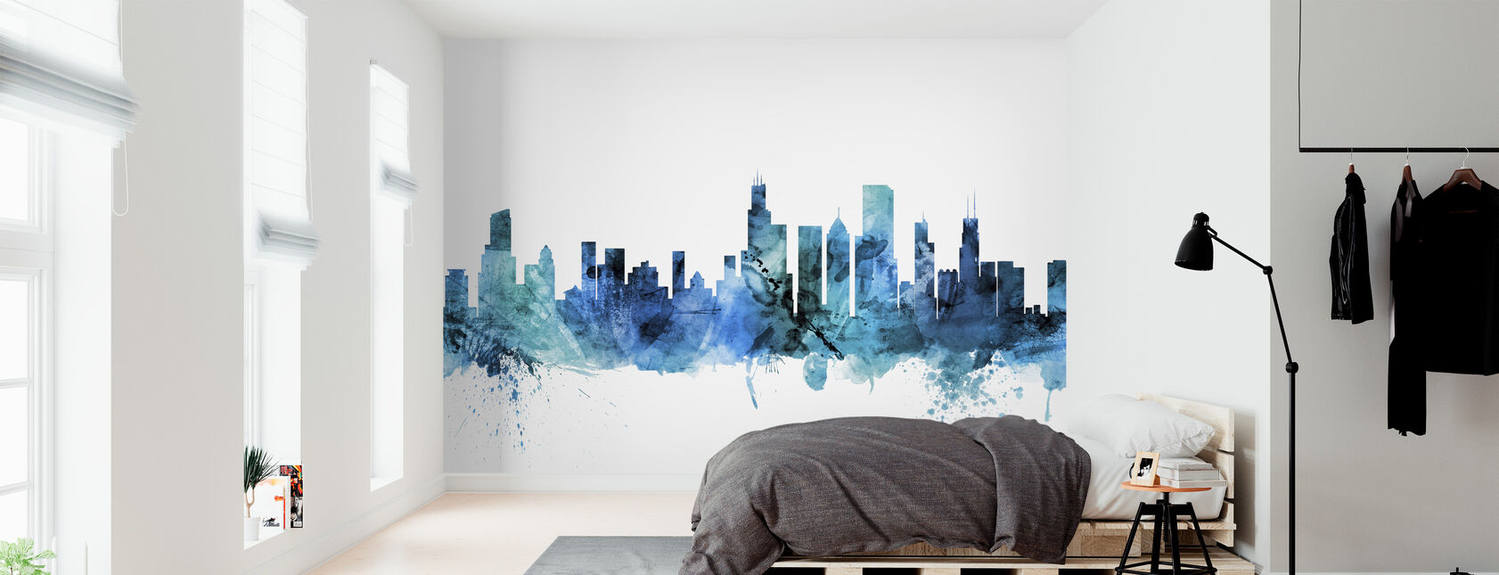 Chicago Illinois Skyline - Wallpaper - Bedroom