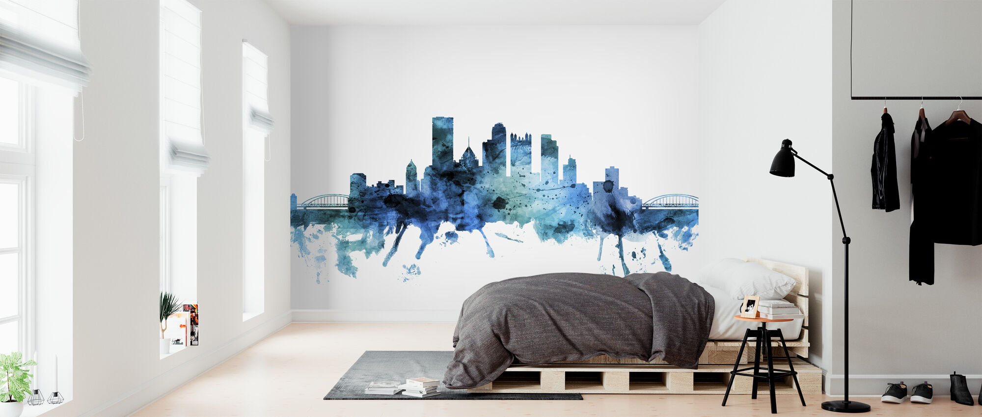Pittsburgh Pennsylvania Skyline - Wallpaper - Bedroom