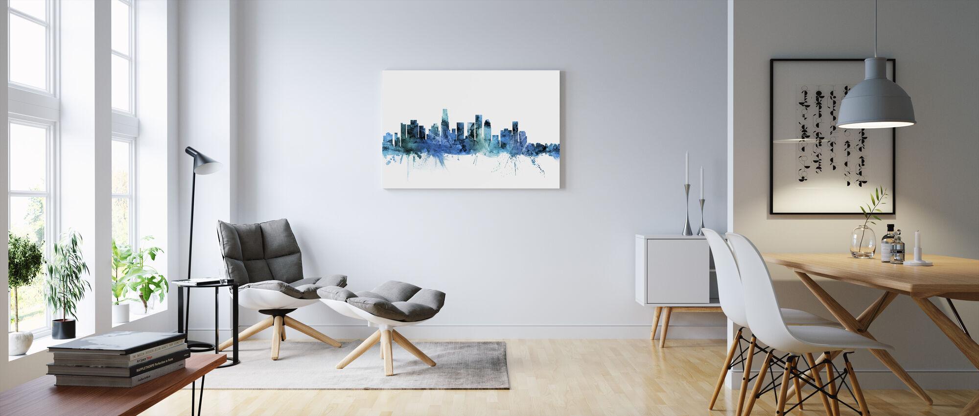 Los Angeles California Skyline - Canvas print - Living Room