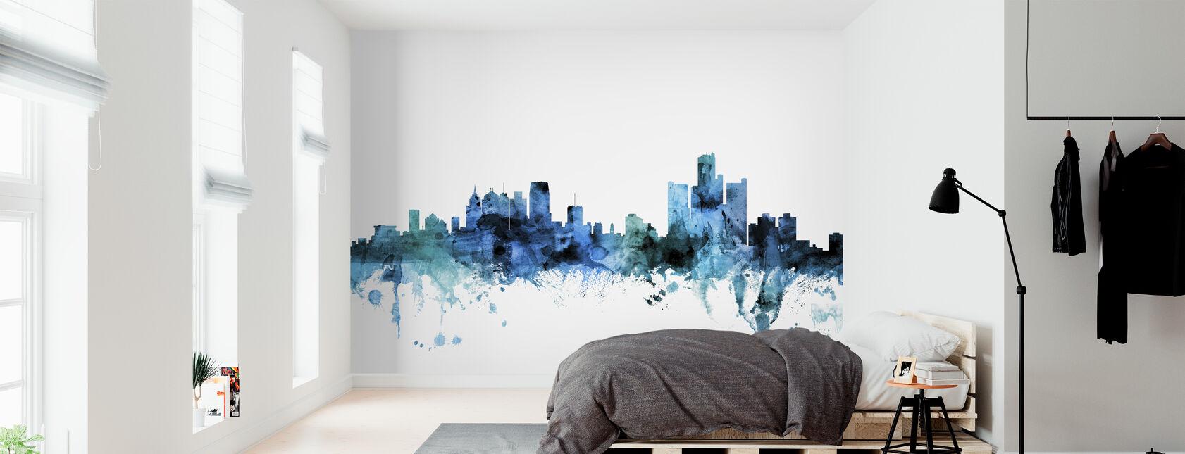 Detroit Michigan Skyline - Wallpaper - Bedroom