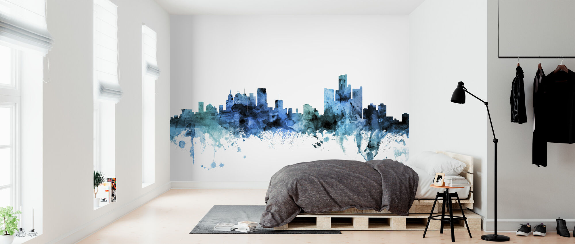 Detroit Michigan Skyline - Wallpaper - Bedroom