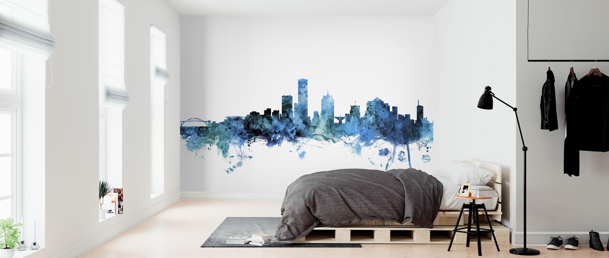 Milwaukee Wisconsin Skyline - Wallpaper - Bedroom