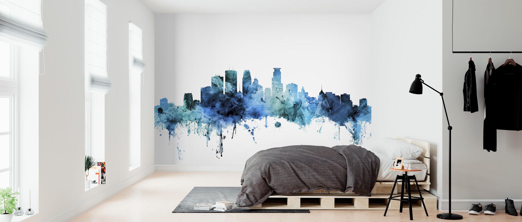 Minneapolis Minnesota Skyline - Wallpaper - Bedroom