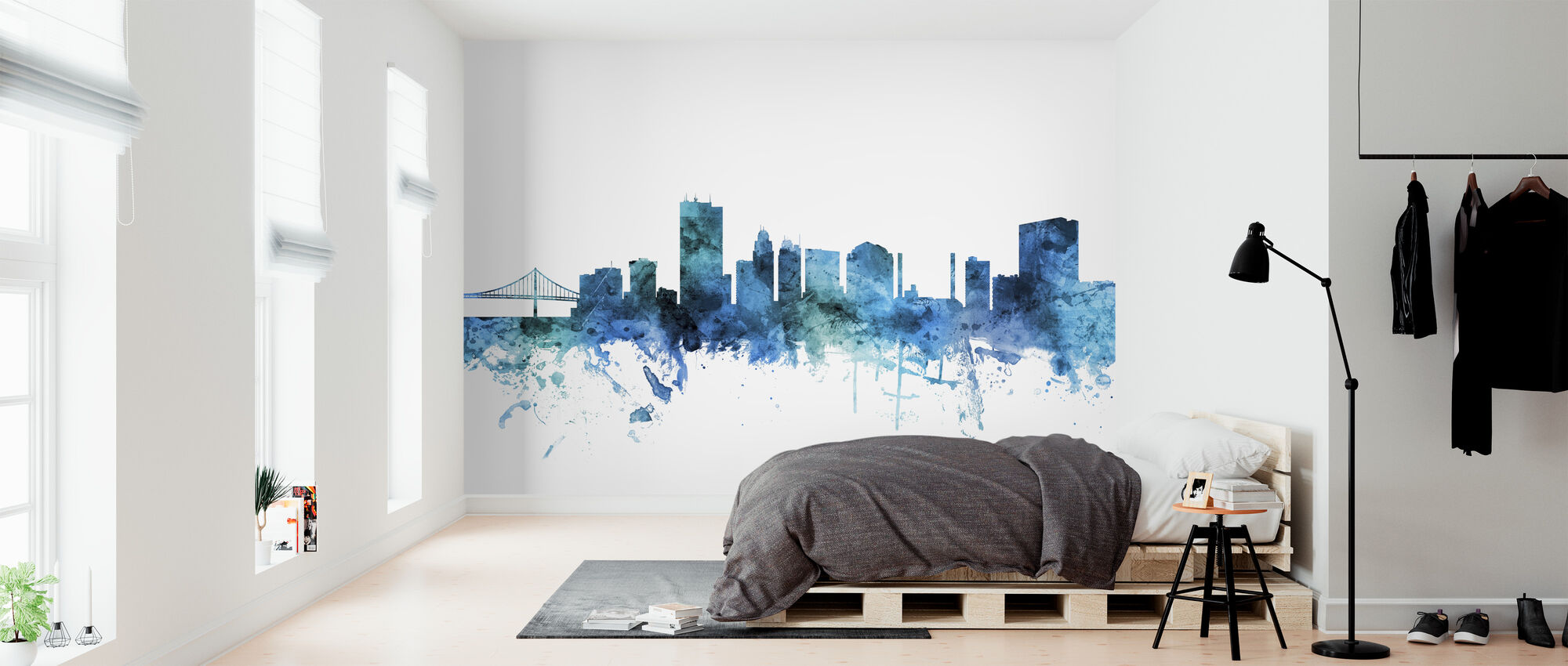 Toledo Ohio Skyline - Wallpaper - Bedroom