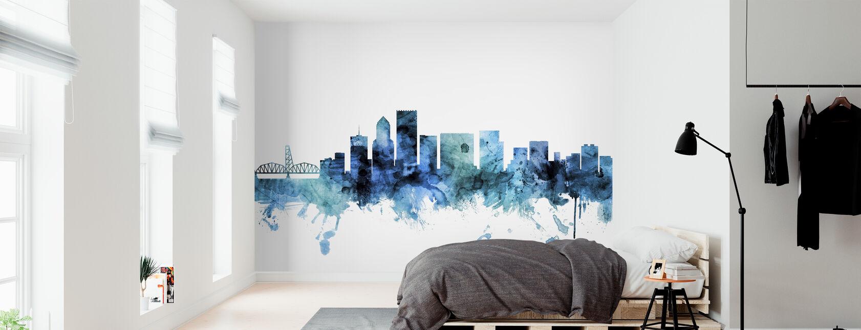 Portland Oregon Skyline - Wallpaper - Bedroom