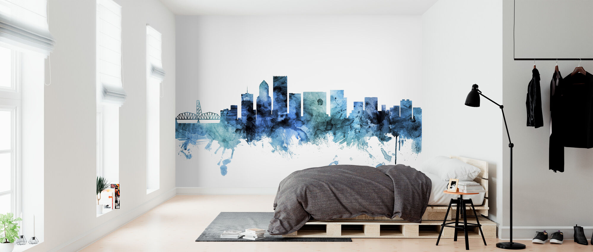 Portland Oregon Skyline - Wallpaper - Bedroom