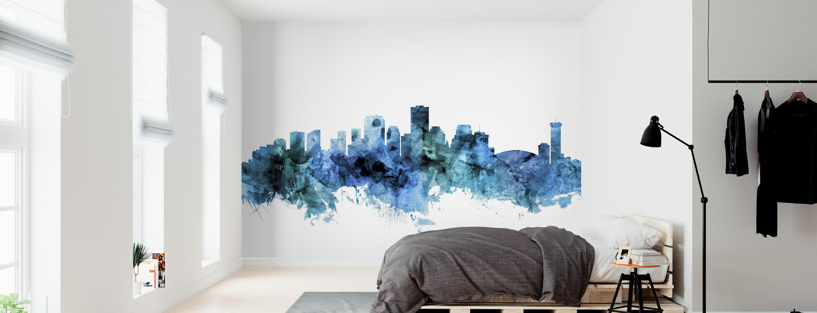 New Orleans Louisiana Skyline - Wallpaper - Bedroom