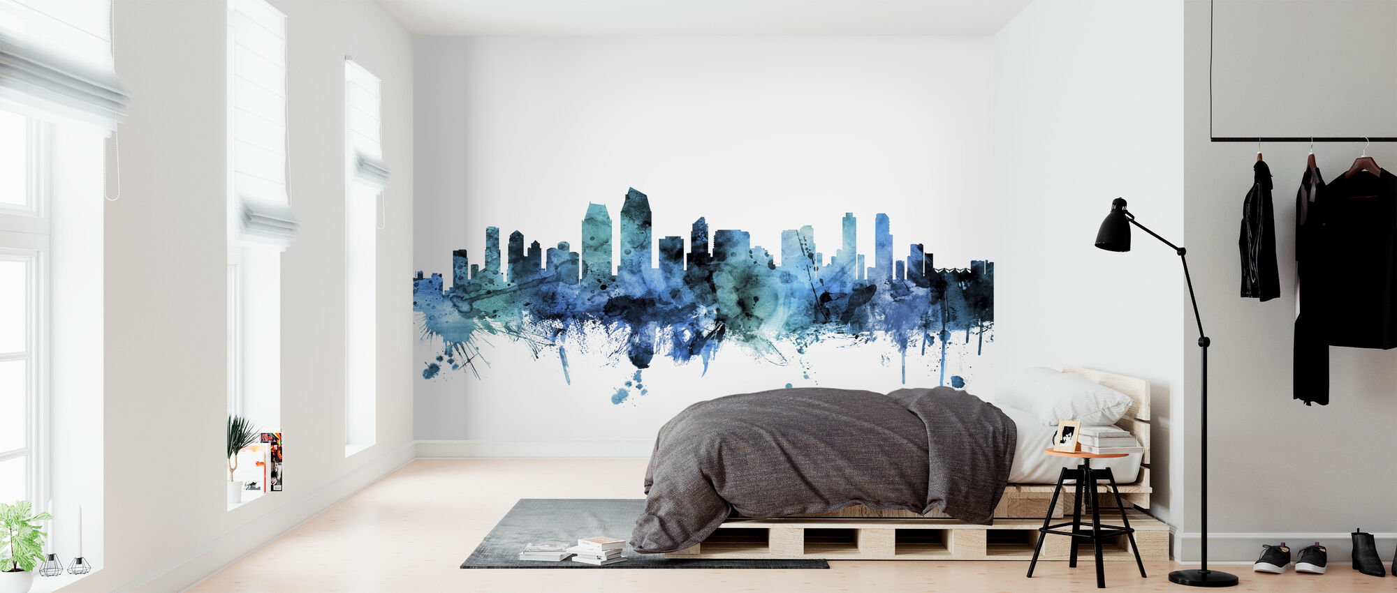 San Diego California Skyline - Wallpaper - Bedroom