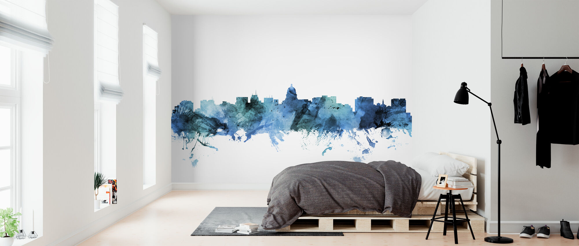 Madison Wisconsin Skyline - Wallpaper - Bedroom