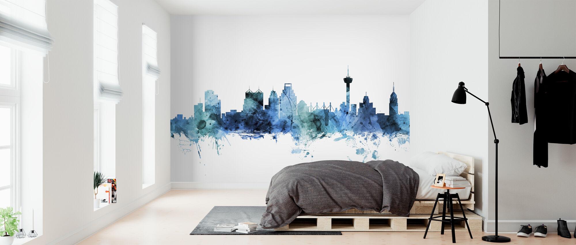 San Antonio Texas Skyline - Wallpaper - Bedroom