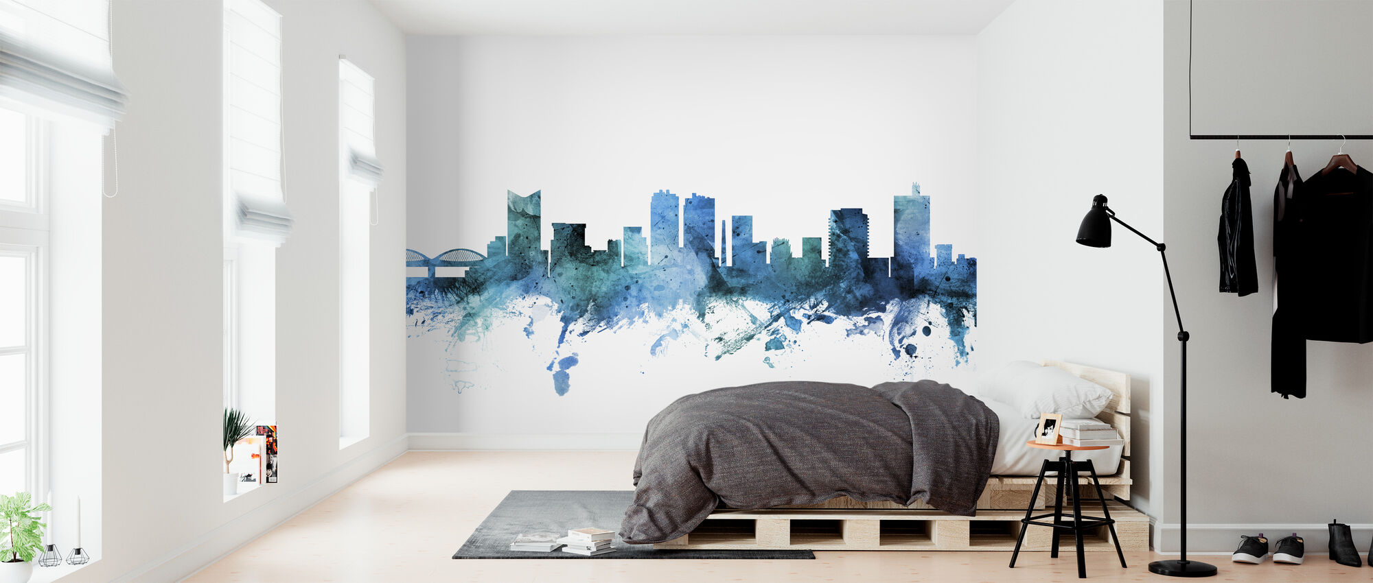 Fort Worth Texas Skyline - Wallpaper - Bedroom