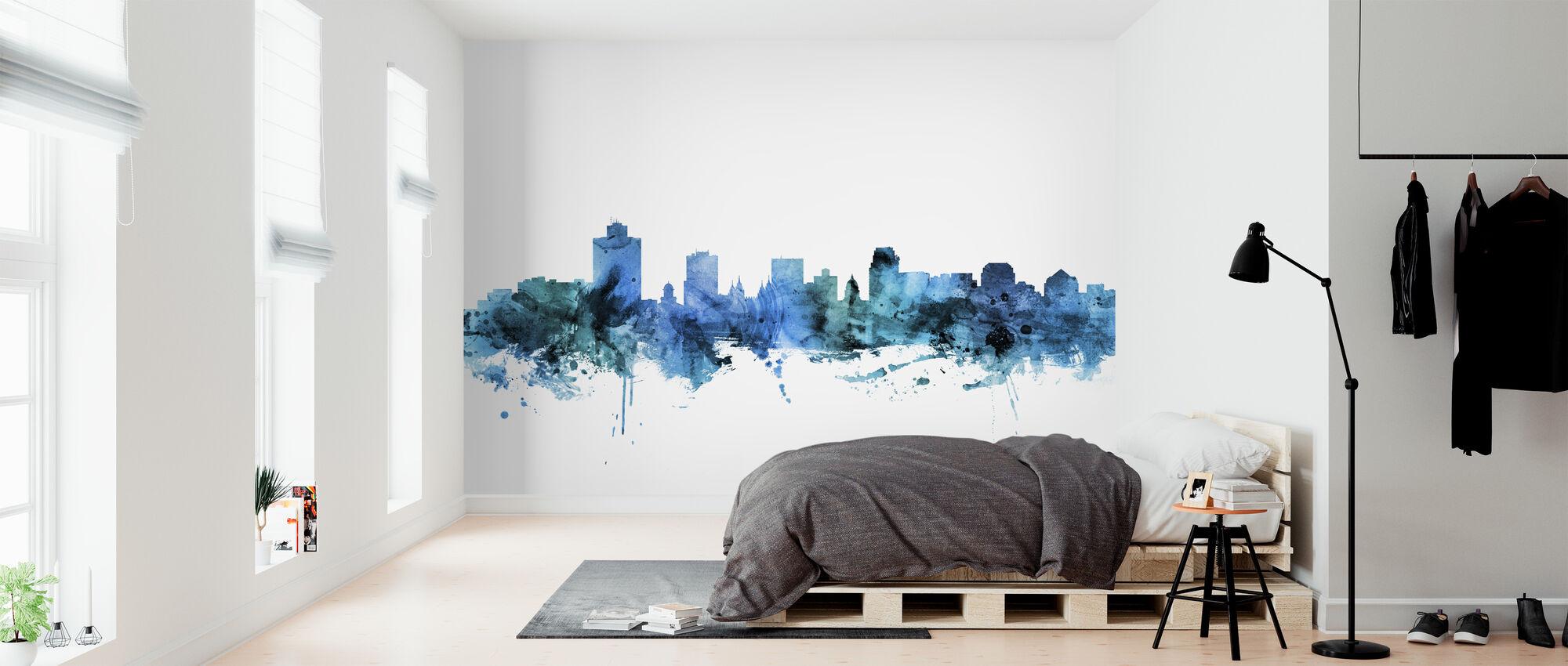 Salt Lake City Utah Skyline - Wallpaper - Bedroom