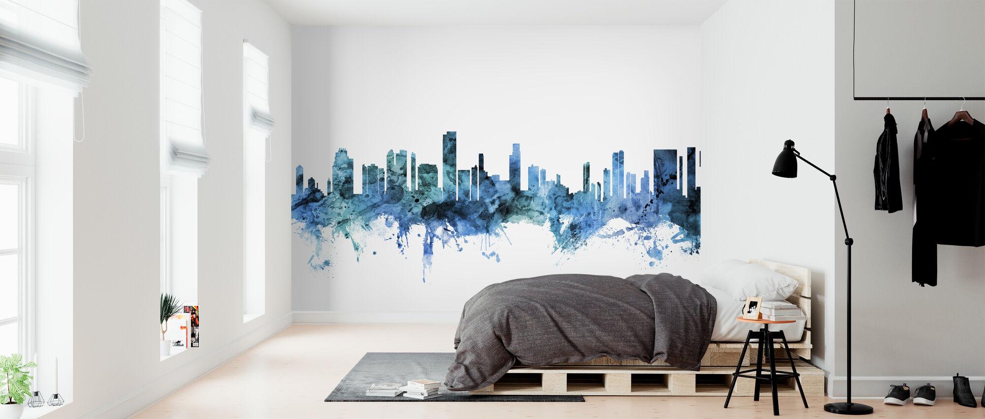 Honolulu Hawaii Skyline - Wallpaper - Bedroom