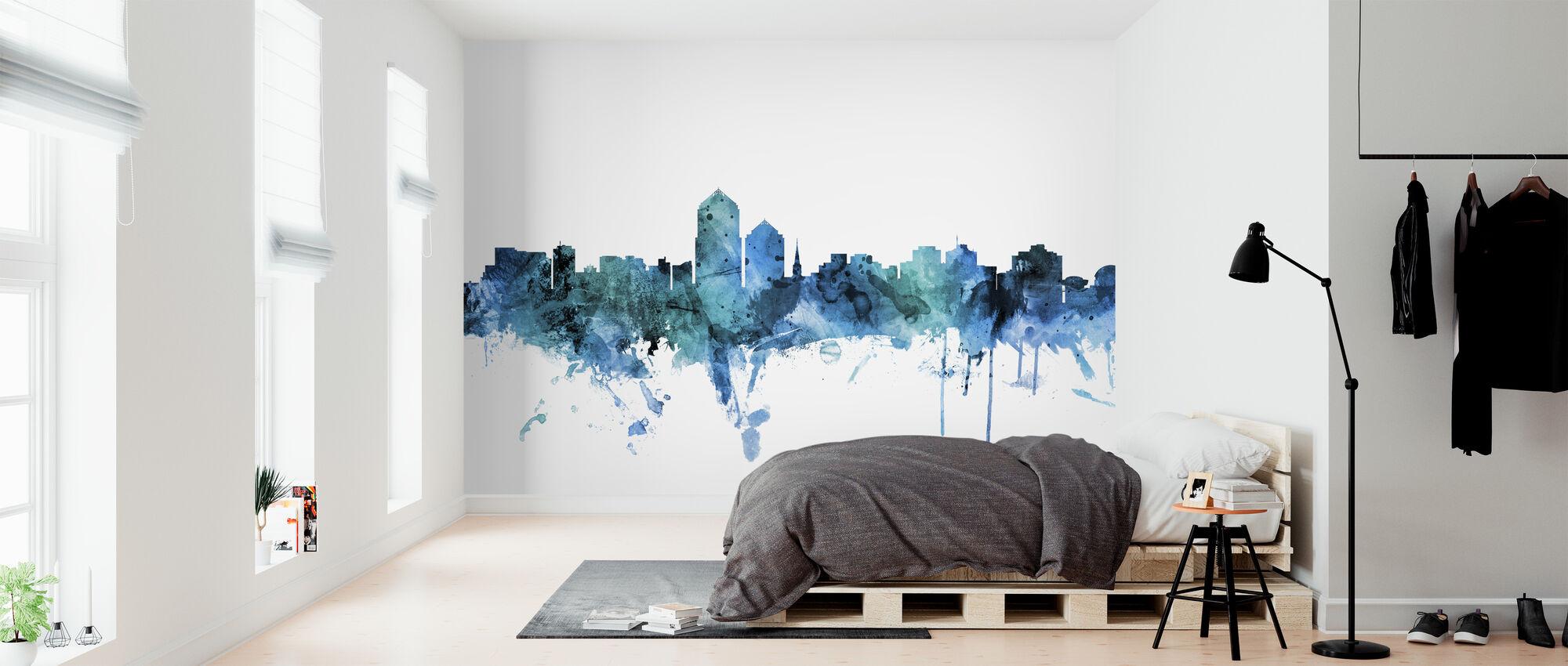 Albuquerque New Mexico Skyline - Wallpaper - Bedroom