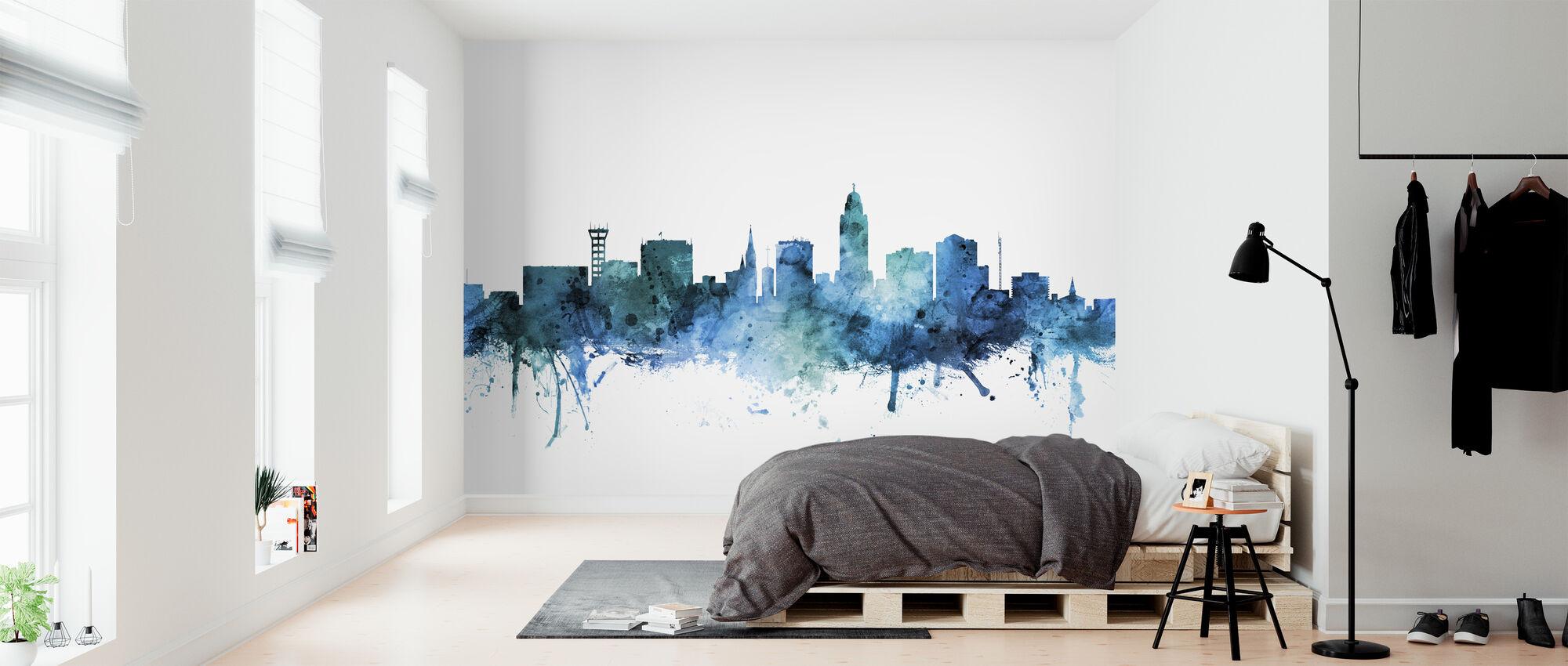 Lincoln Nebraska Skyline - Wallpaper - Bedroom