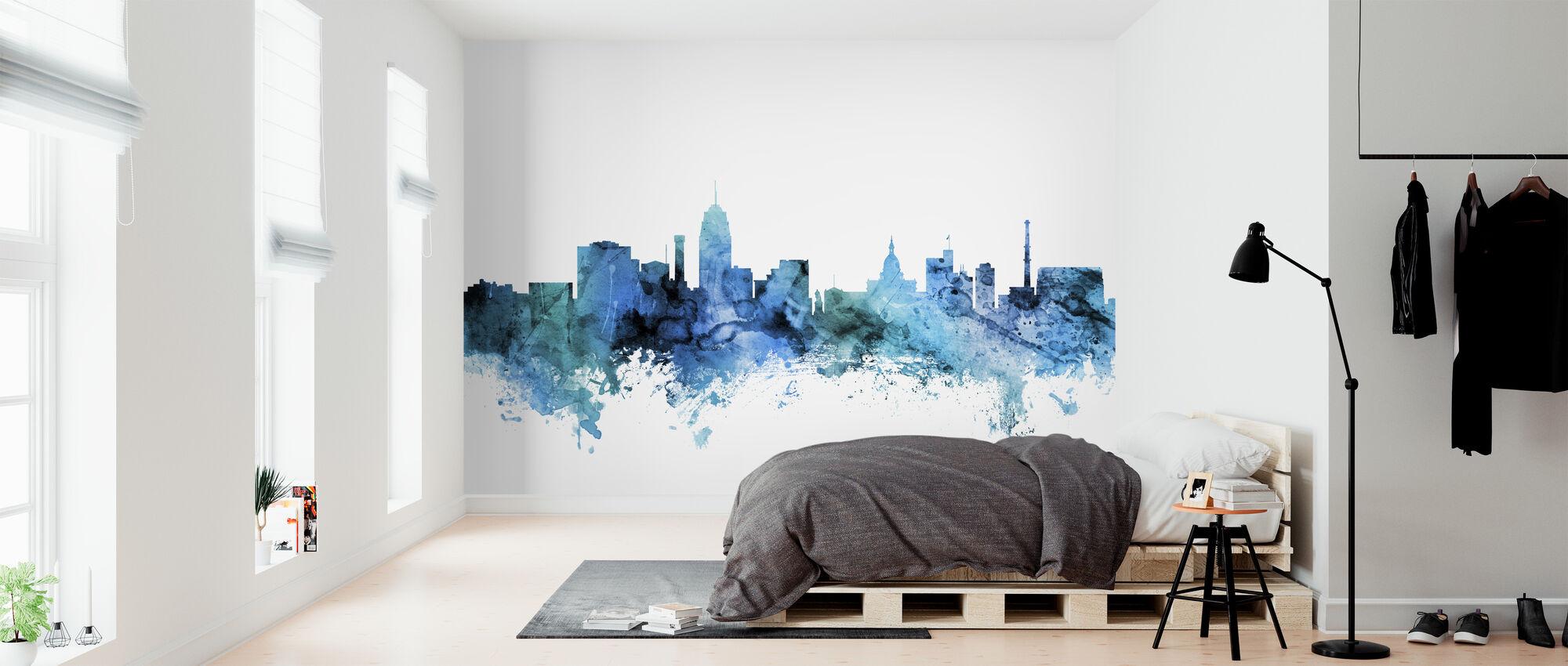 Lansing Michigan Skyline - Wallpaper - Bedroom