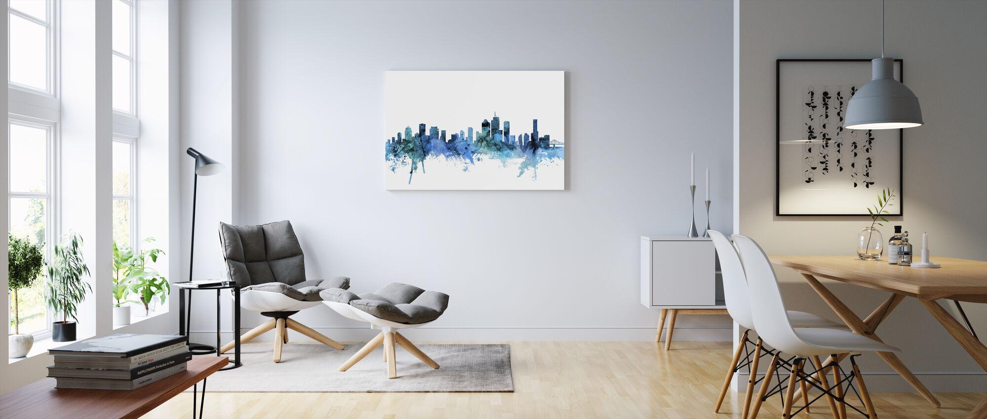 Skyline van Brisbane Australië - Canvas print - Woonkamer
