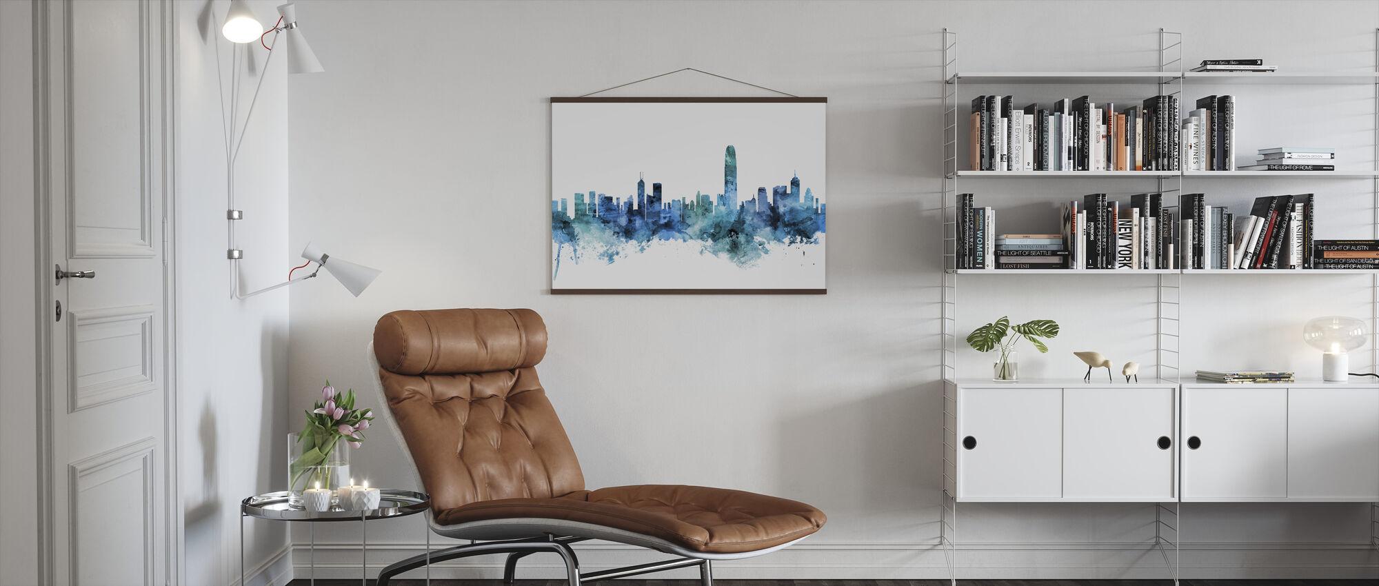 Hong Kong Skyline - Poster - Living Room