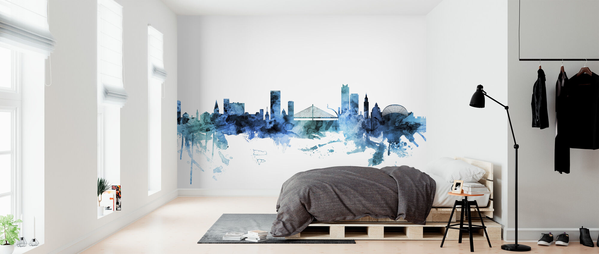 Liege Belgium Skyline - Wallpaper - Bedroom