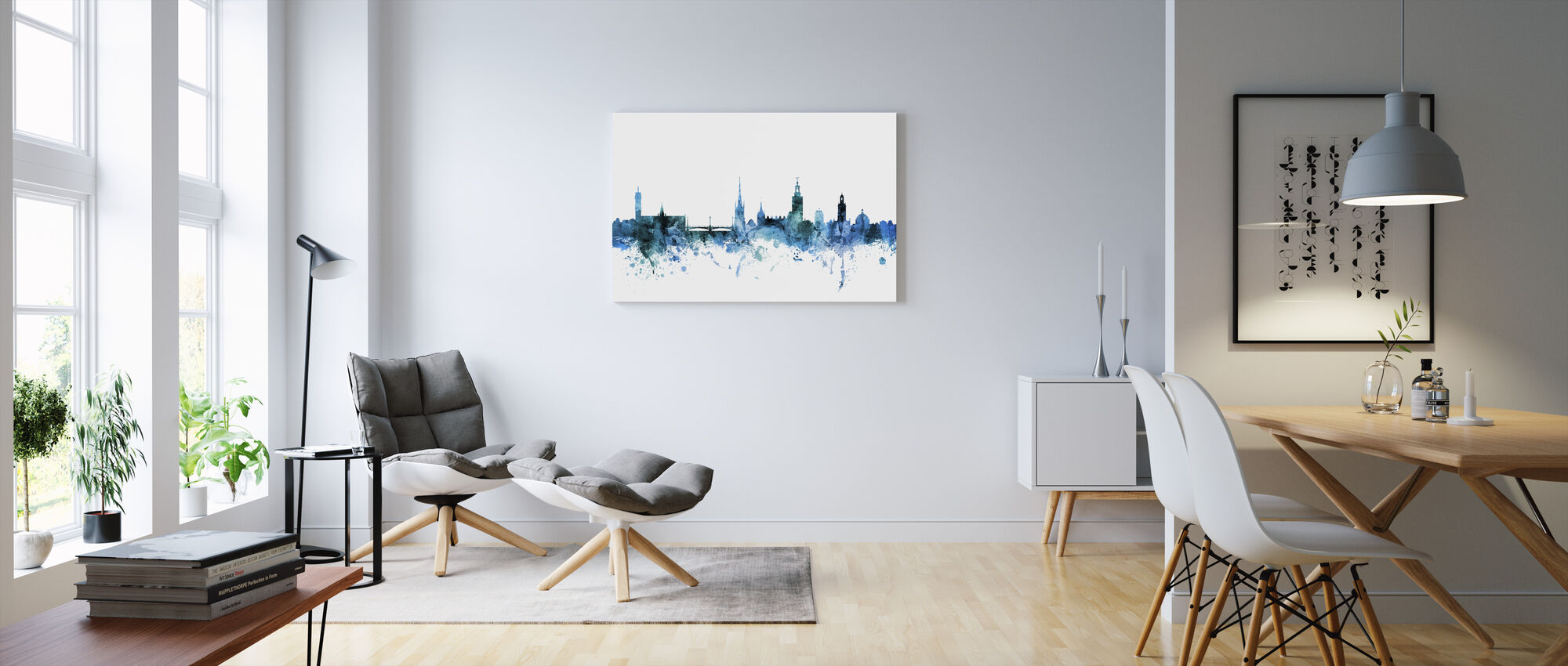 Stockholm Sverige Skyline - Canvastavla - Vardagsrum