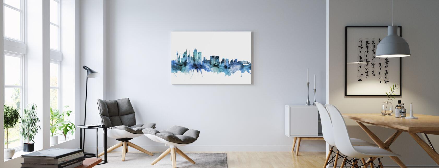 Skyline van Sydney Australië - Canvas print - Woonkamer