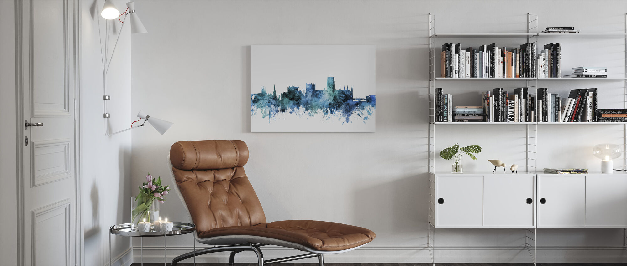 Durham England Skyline Cityscape - Canvas print - Living Room
