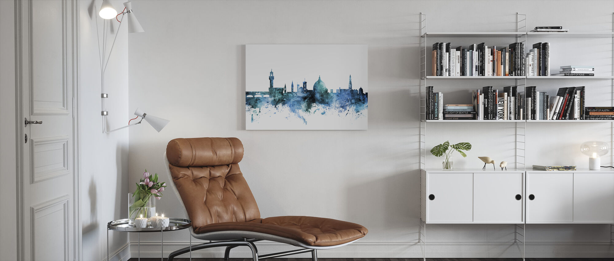 Florence Italy Skyline - Canvas print - Living Room