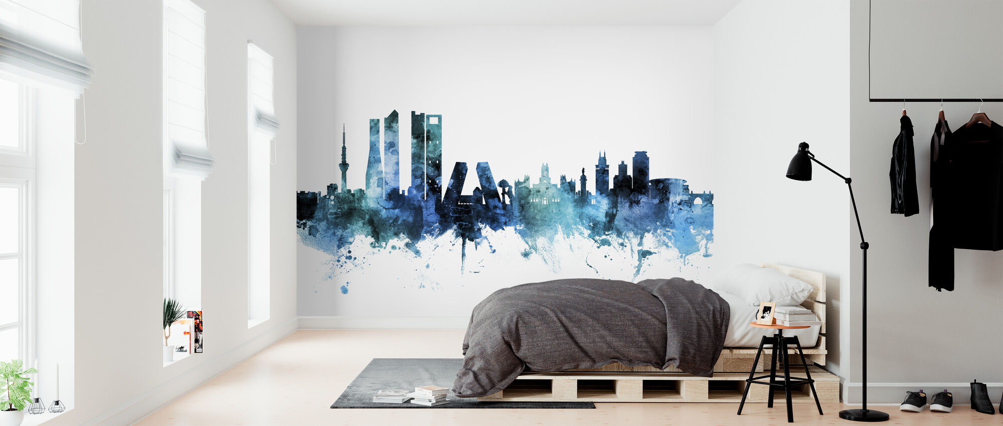 Madrid España Skyline - Papel pintado - Dormitorio