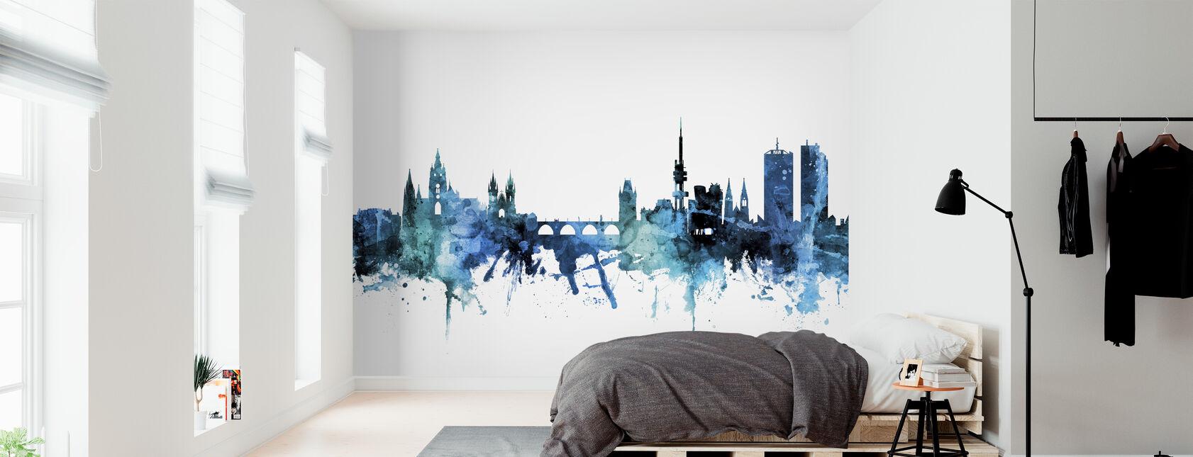 Prag (Praha) Den Tjekkiske Republik Skyline - Tapet - Soveværelse