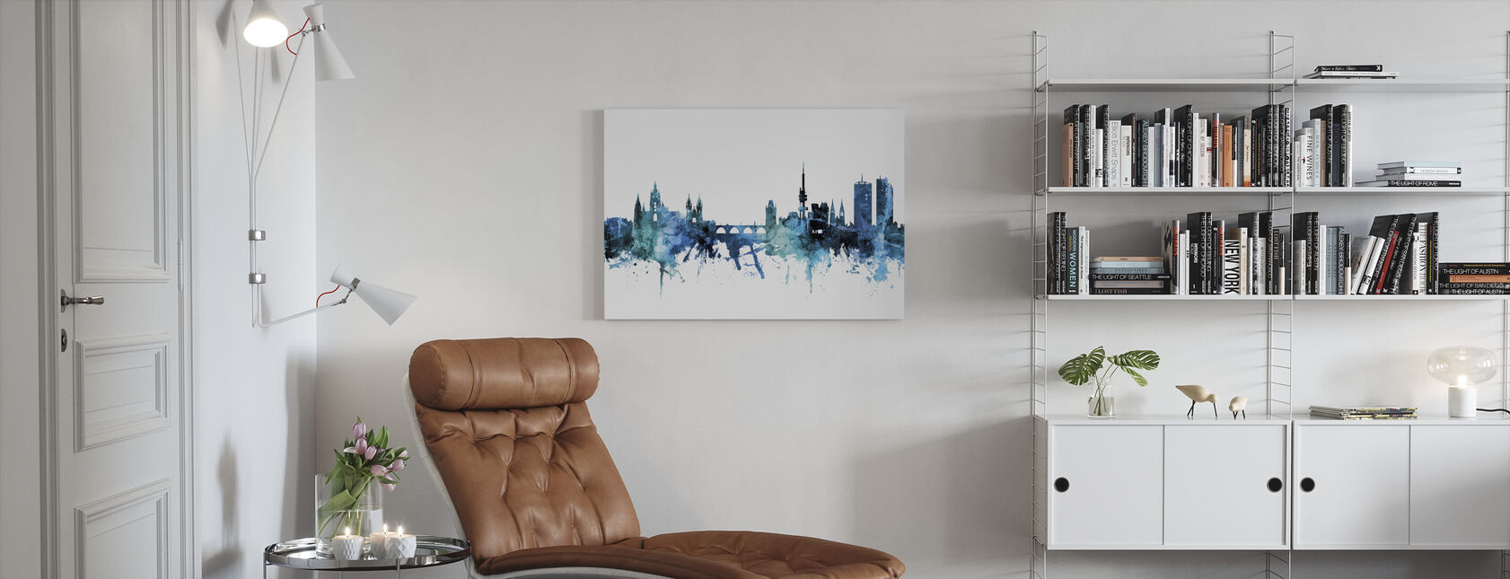 Praag (Praha) Skyline van Tsjechië - Canvas print - Woonkamer