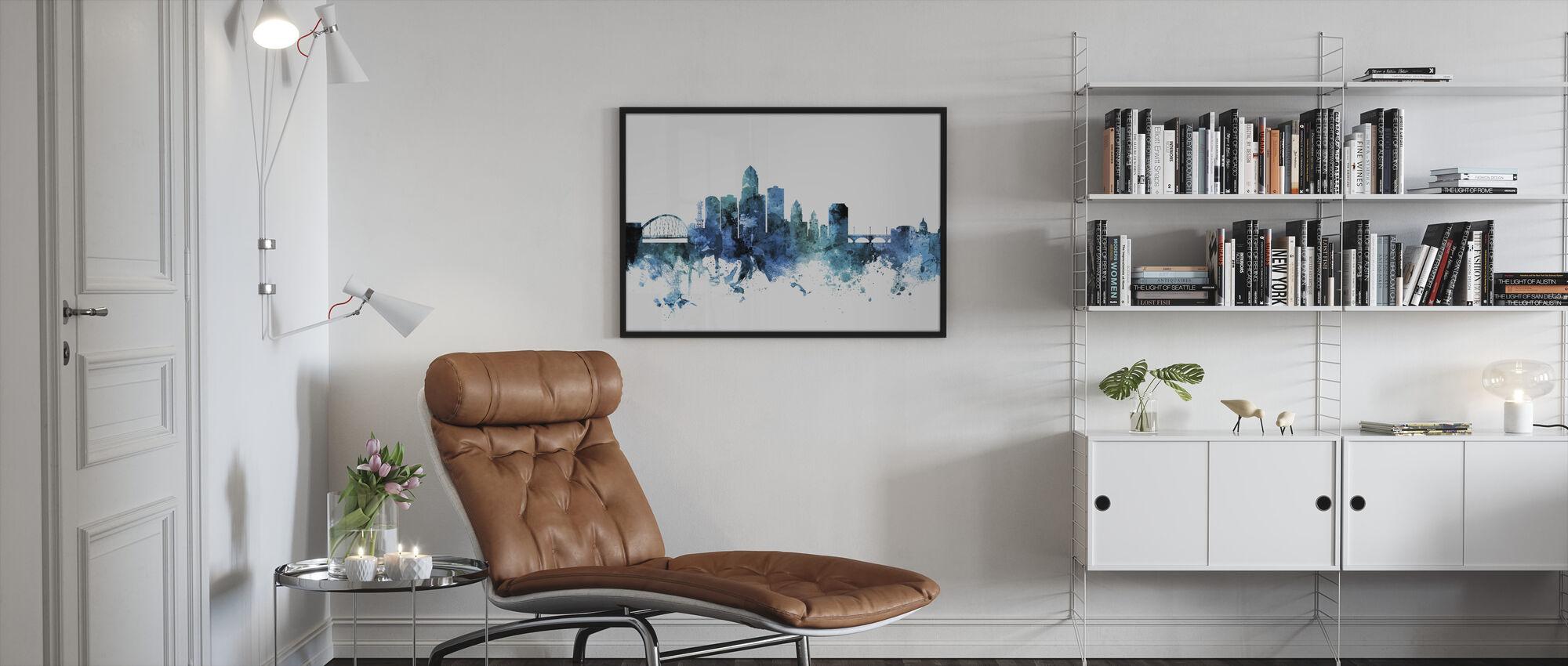 Des Moines Iowa Skyline - Framed print - Living Room