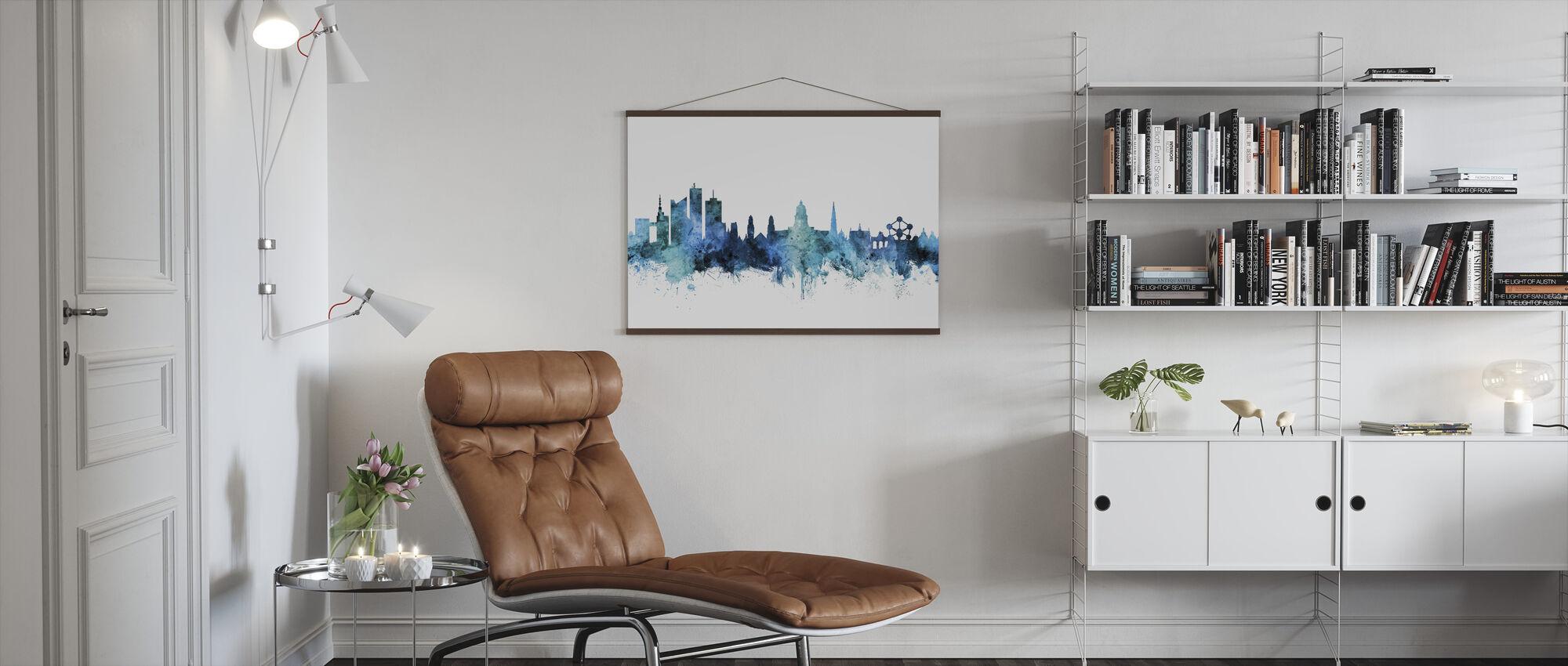 Brussels Belgium Skyline - Poster - Living Room