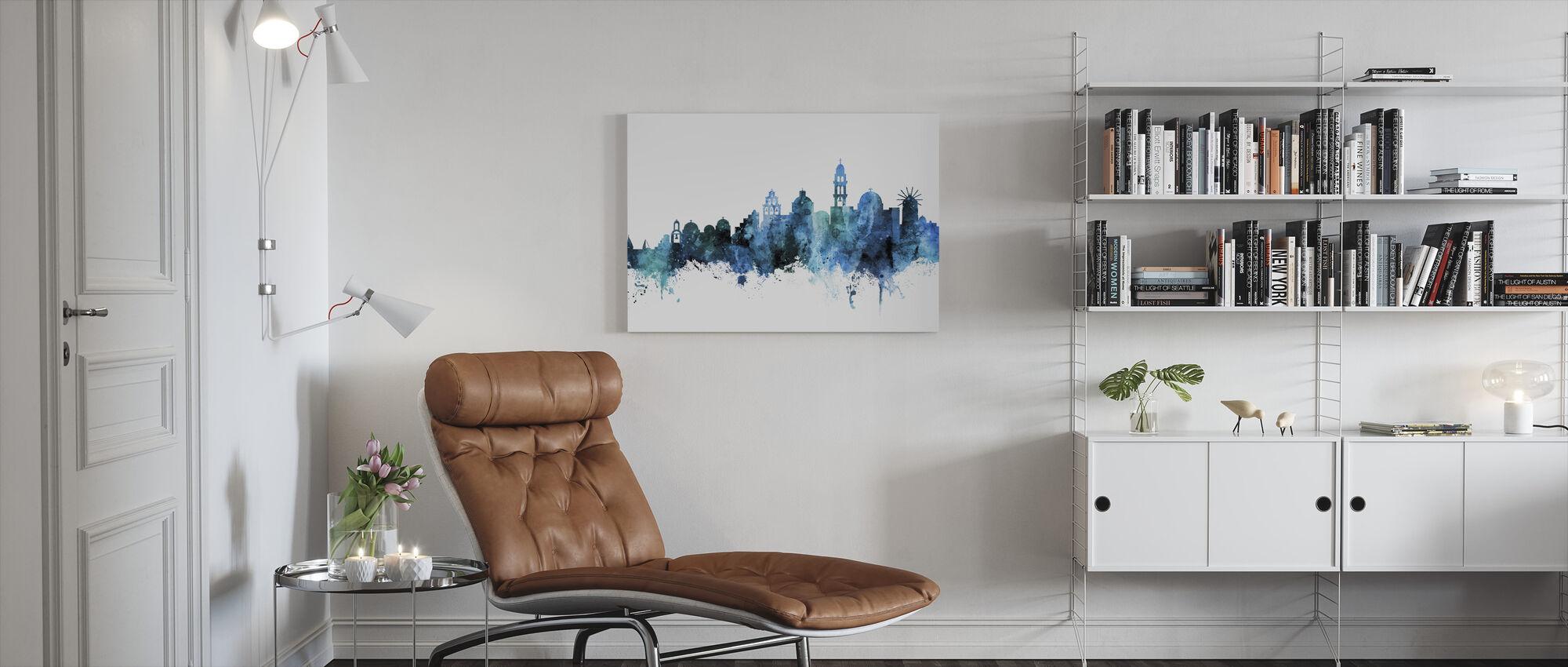 Santorini Skyline - Canvas print - Living Room