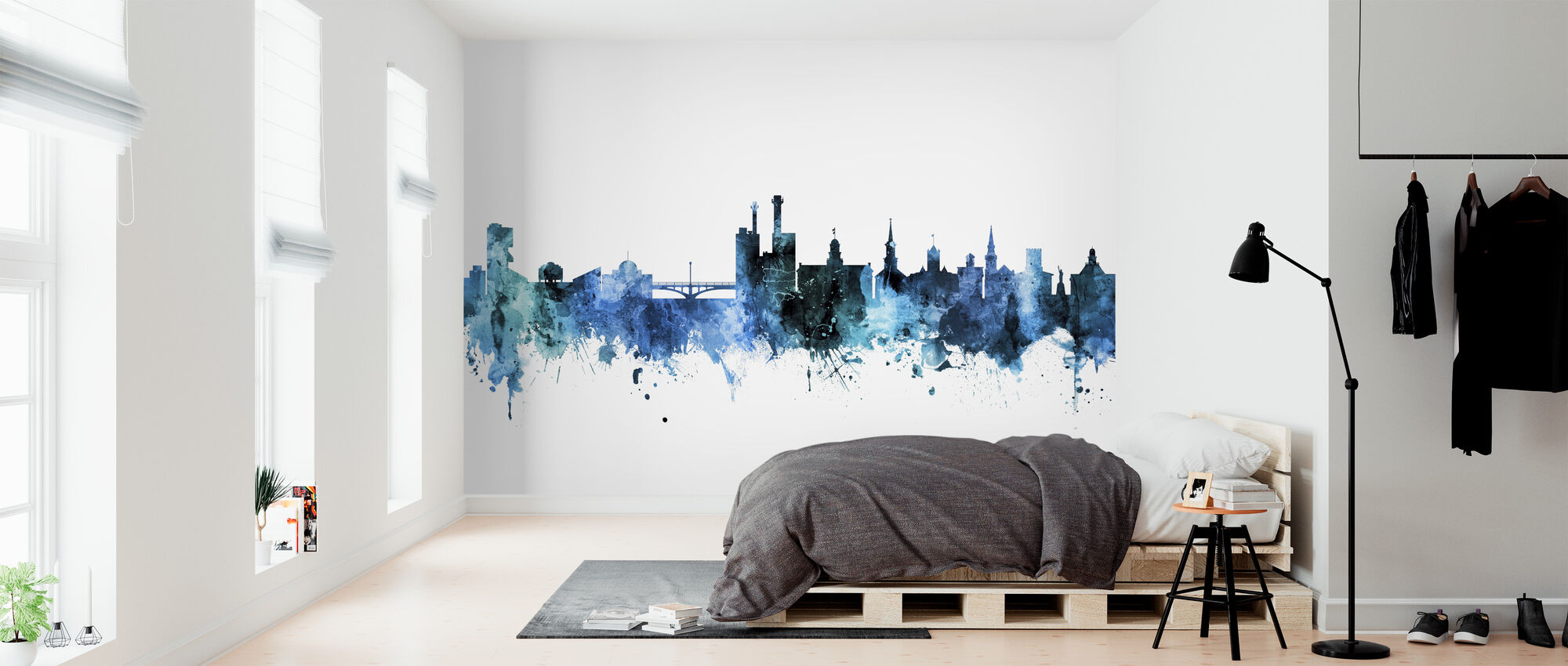 Iowa City Iowa Skyline - Wallpaper - Bedroom