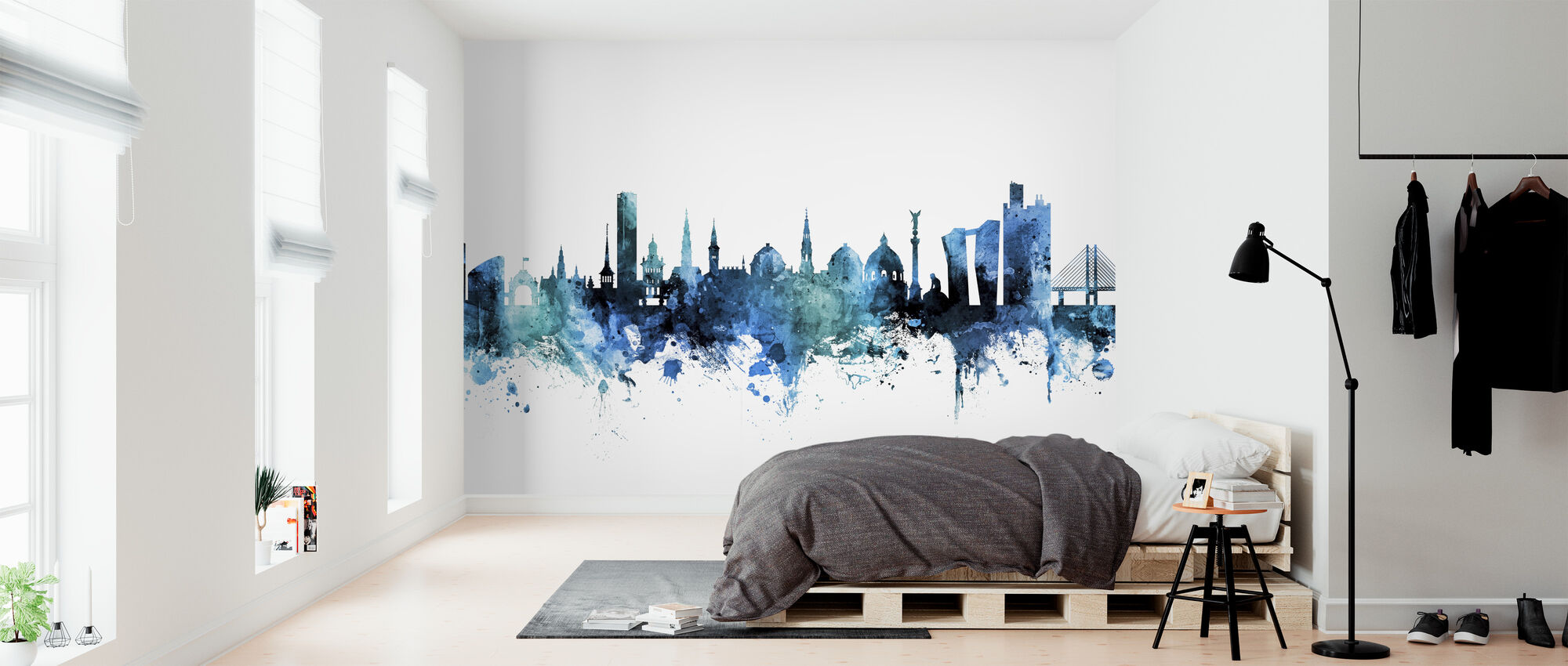 Copenhagen Denmark Skyline - Wallpaper - Bedroom