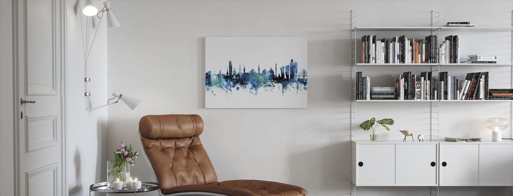 København Danmark Skyline - Billede på lærred - Stue