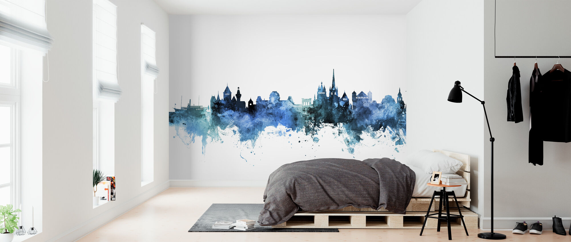 Lausanne Switzerland Skyline - Wallpaper - Bedroom