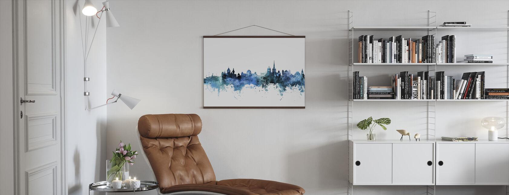 Lausanne Switzerland Skyline - Poster - Living Room