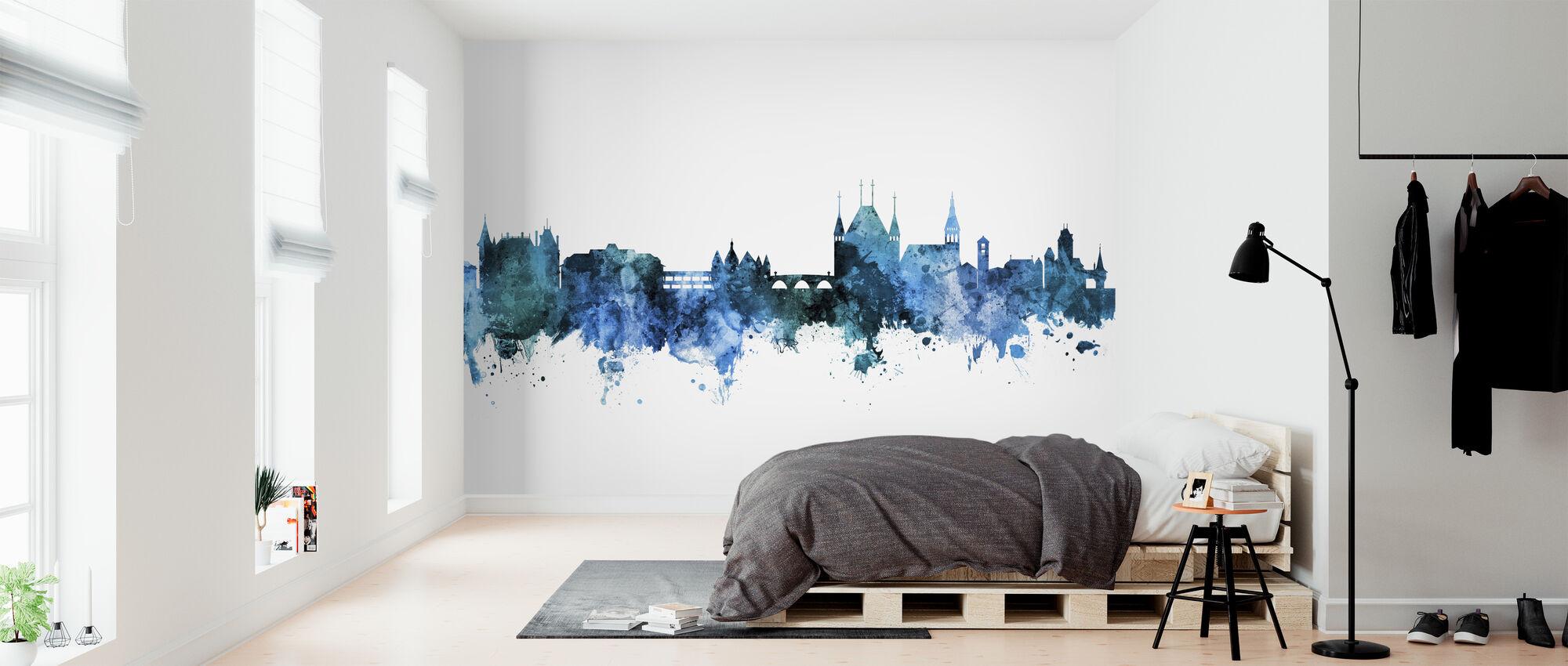 Thun Switzerland Skyline - Wallpaper - Bedroom