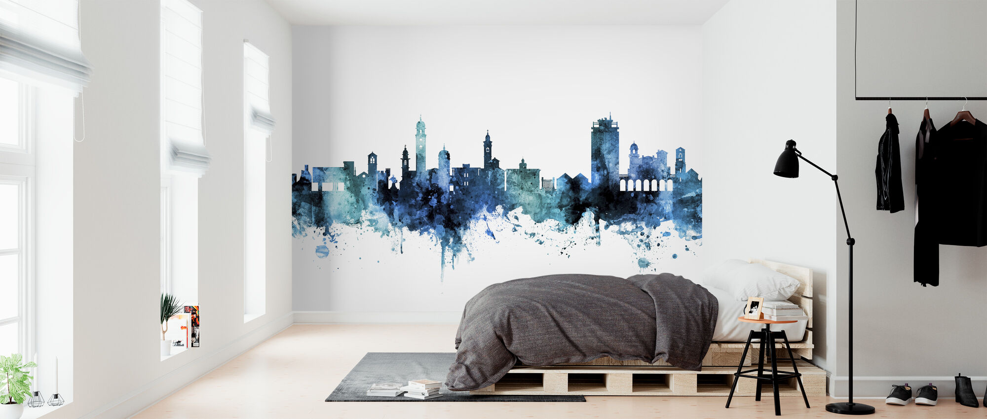 Lugano Switzerland Skyline - Wallpaper - Bedroom