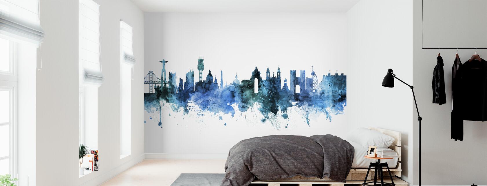 Lisbon Portugal Skyline - Wallpaper - Bedroom