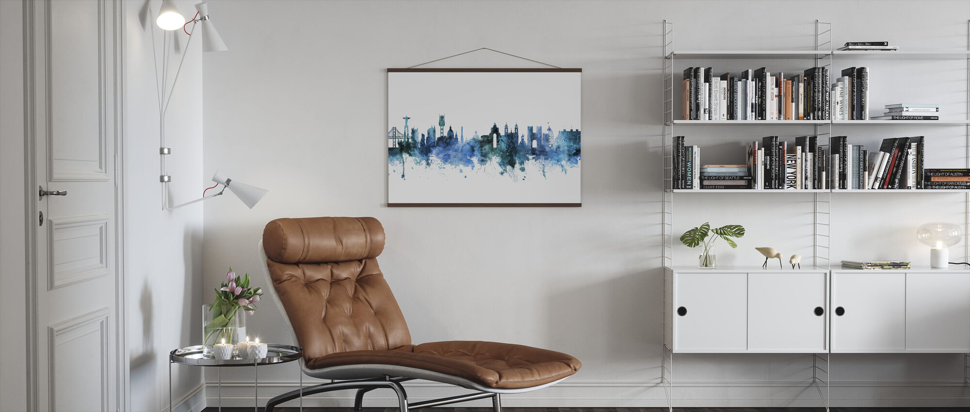 Lisbon Portugal Skyline - Poster - Living Room