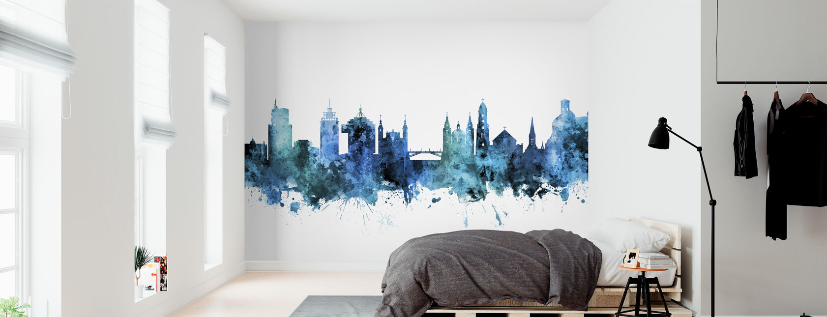 Ljubljana Solvenia Skyline - Wallpaper - Bedroom