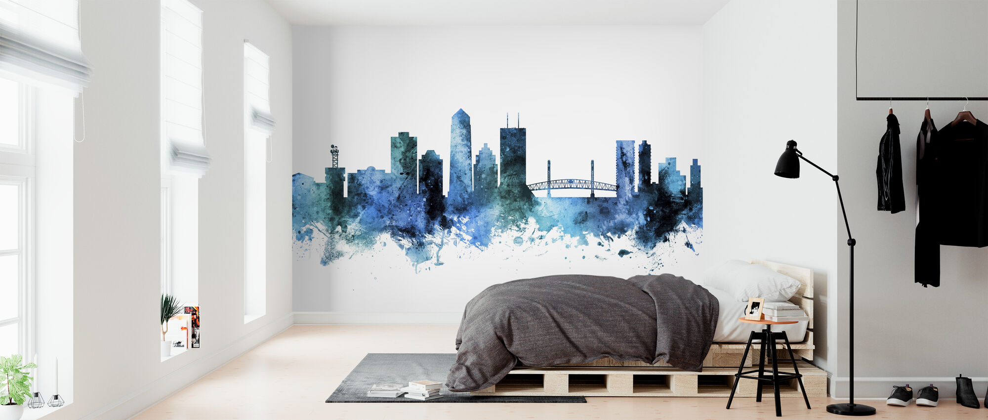Jacksonville Florida Skyline - Wallpaper - Bedroom
