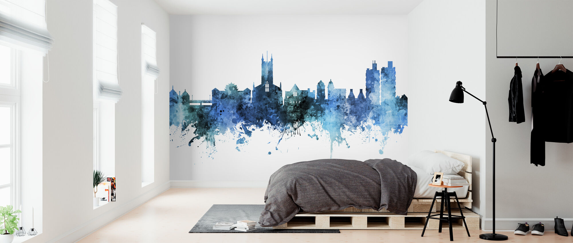 Stoke-on-Trent England Skyline - Wallpaper - Bedroom