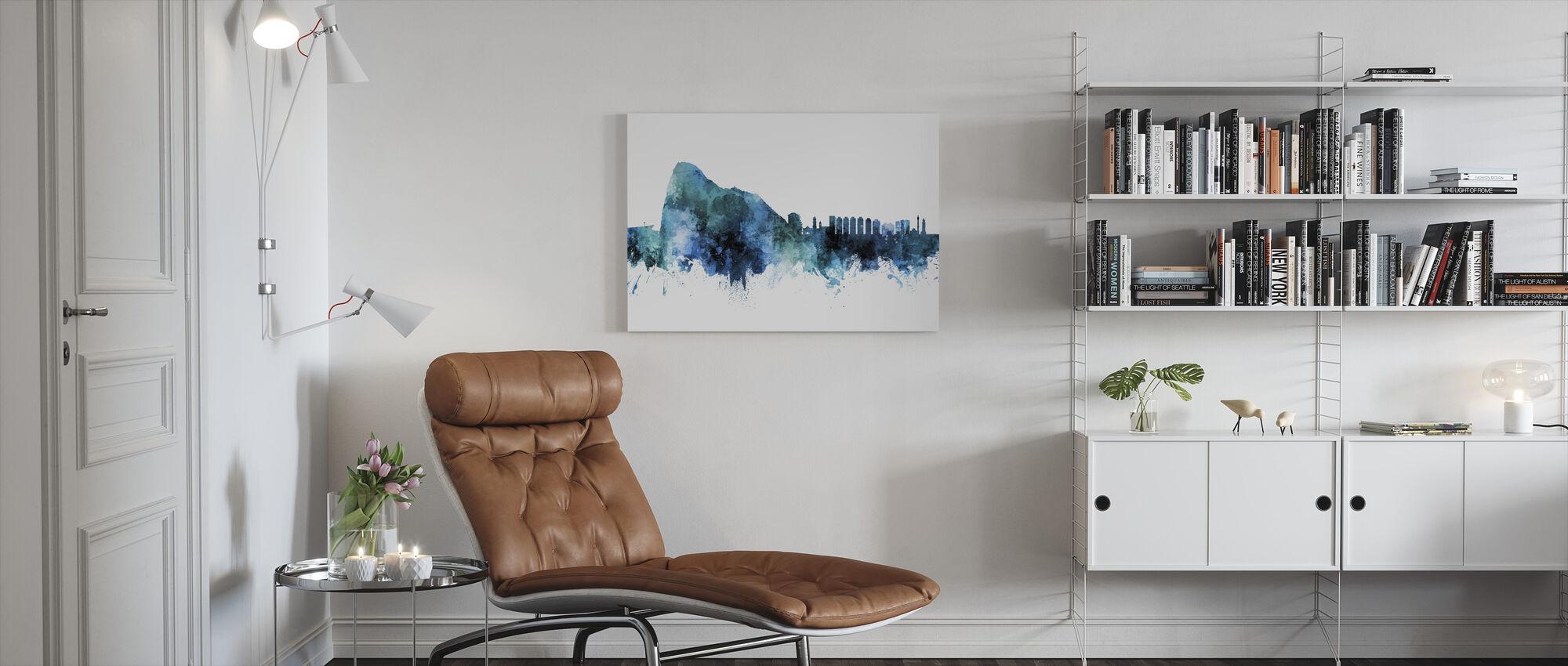Gibraltar Skyline - Canvas print - Living Room