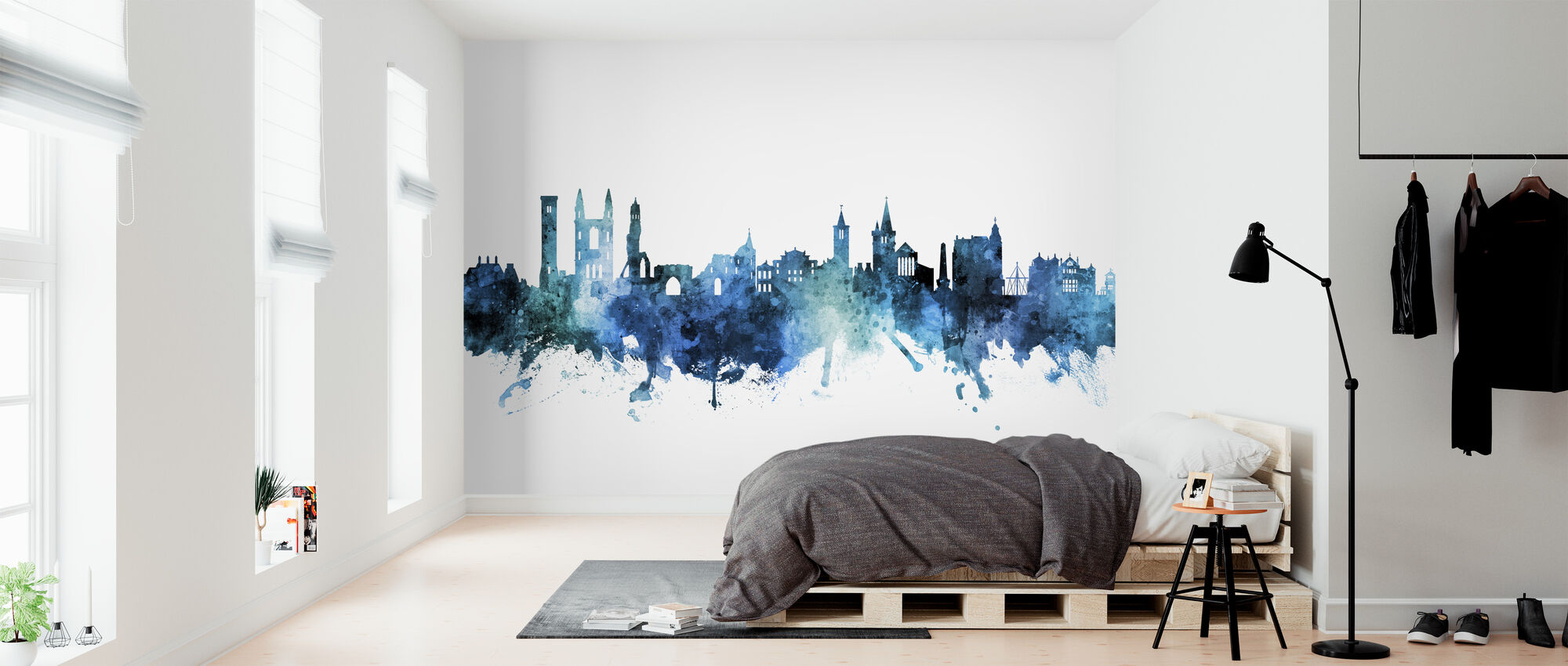 St Andrews Scotland Skyline - Wallpaper - Bedroom