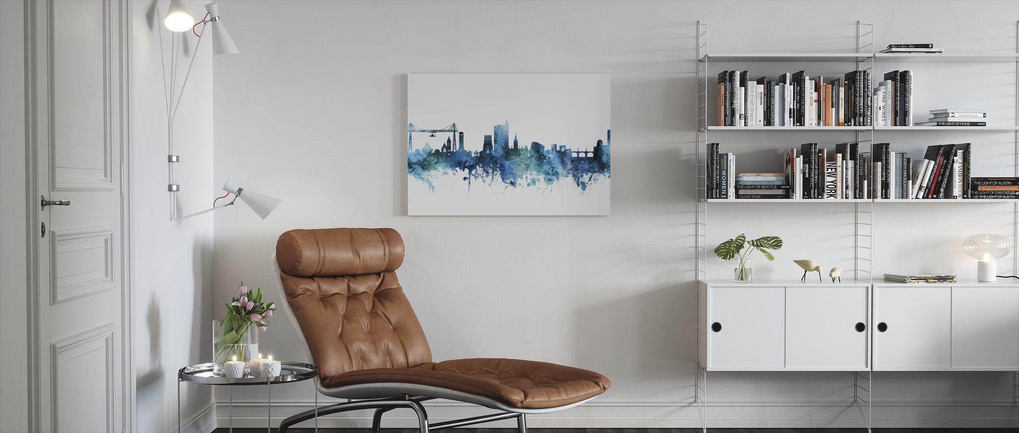 Newport Wales Skyline - Canvas print - Living Room