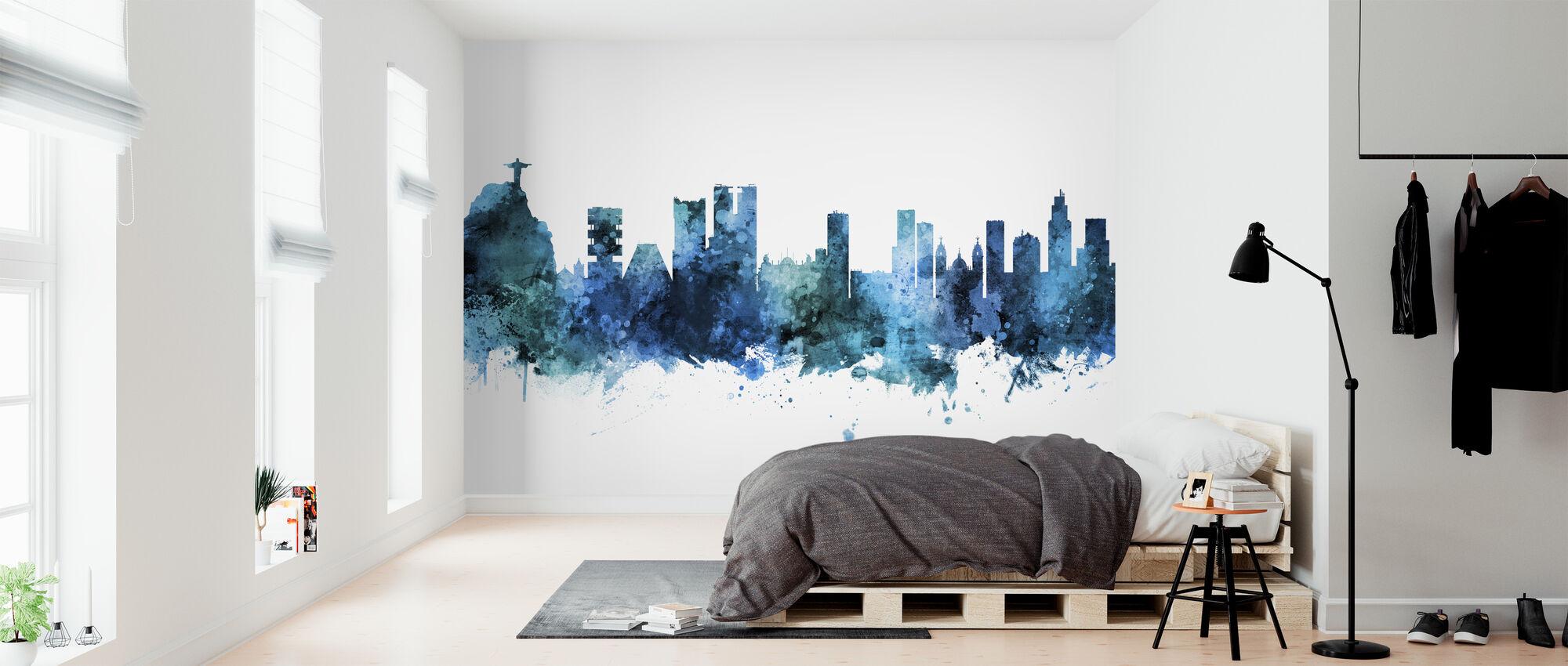 Rio de Janeiro Skyline Brazil - Papier peint - Chambre